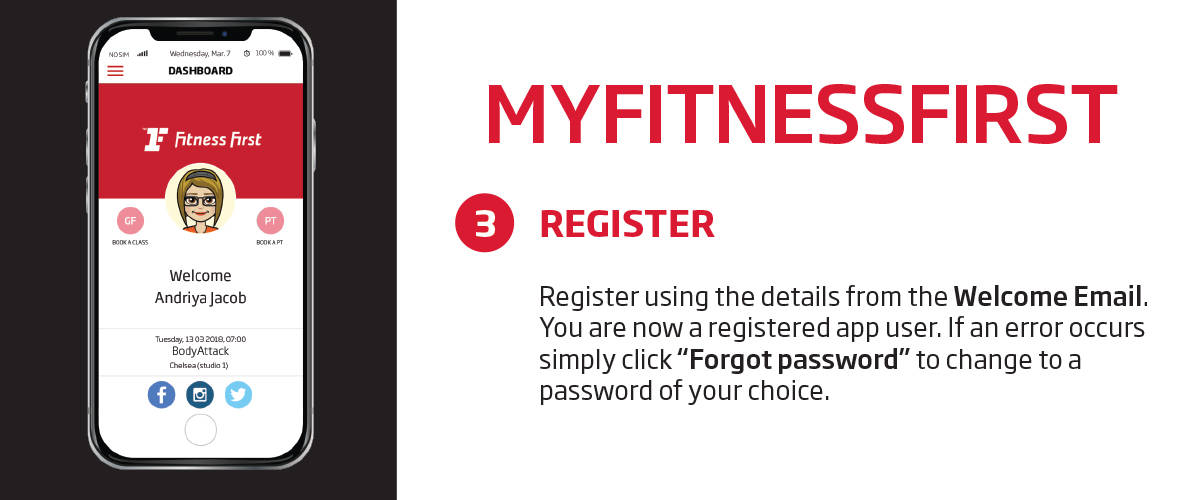 My Fitness First application registration guide
