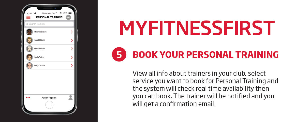 My Fitness First application personal training feature